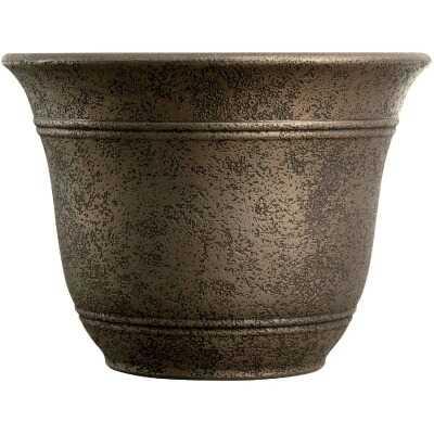Listo Sierra 9.63 In. H. x 13 In. Dia. Nordic Bronze Poly Flower Pot
